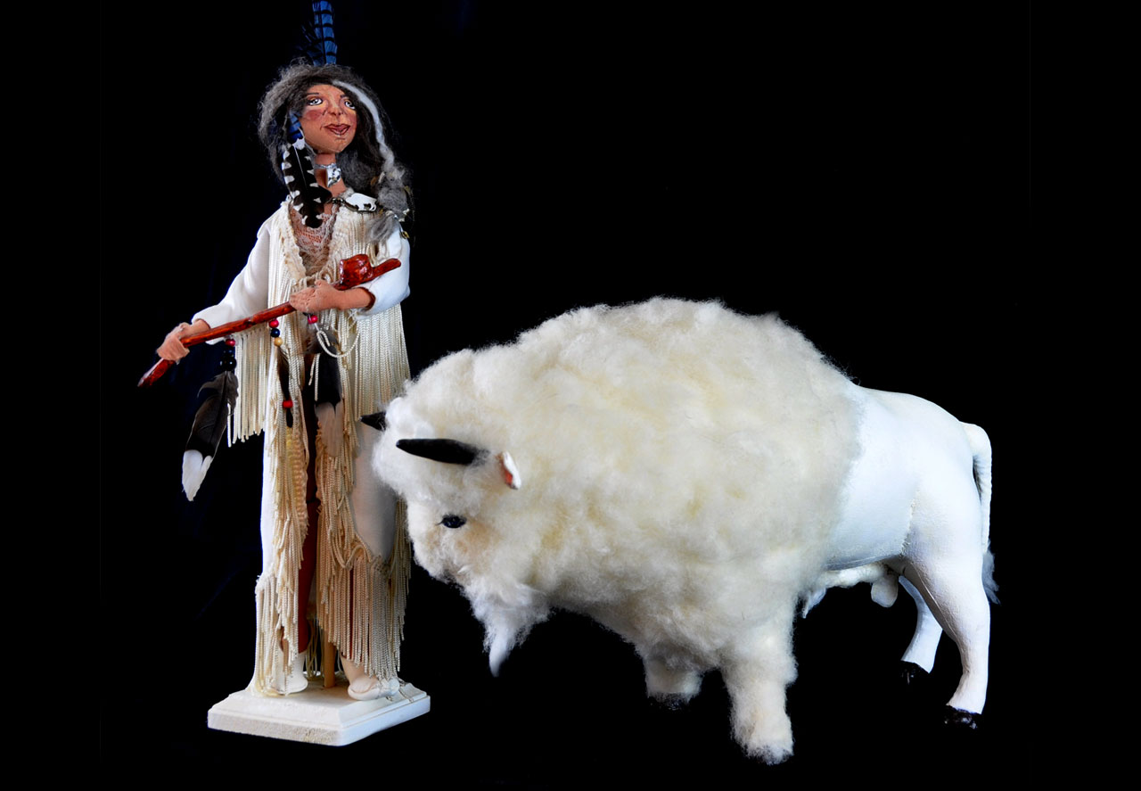 White Buffalo Calf Woman Doll